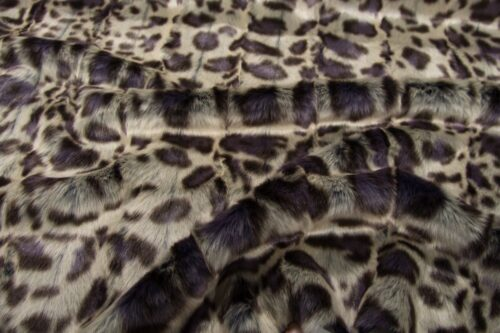 Faux fur by the metre Purple Leopard Faux Fur Fabric By The Metre – 1652 Damson