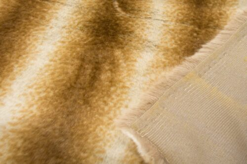 Faux fur by the metre Rusty/Beige Chinchilla Faux Fur Fabric By The Metre – 6002 Rusty/Beige