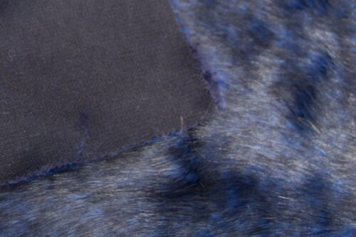 Faux fur by the metre Dark Blue Fox Faux Fur Fabric By The Metre – 6012 Blue