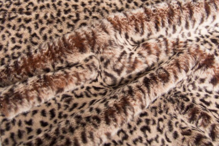 Faux fur by the metre Leopard Faux Fur Fabric By The Metre – 6023 Natural