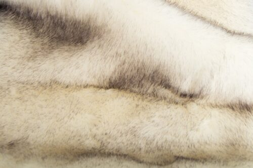 Faux fur by the metre White/Black Fox Faux Fur Fabric By The Metre – 6027 White/Black