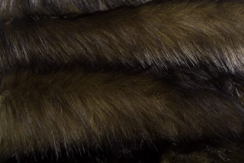Faux fur by the metre Khaki/Black Bear Faux Fur Fabric By The Metre – 6034 Khaki/Black