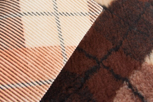 Faux fur by the metre Brown faux fur fabric by the metre for cats and dogs beddings – YF 317 1494/2