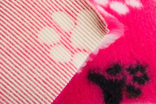 Faux fur by the metre Pink faux fur fabric by the metre for cats and dogs beddings – YF 317 850/69
