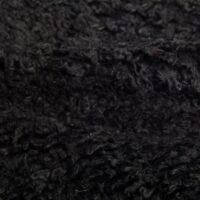 Budget faux fur Black Low Price Teddy Faux fur fabric by the metre – YF 305 Black