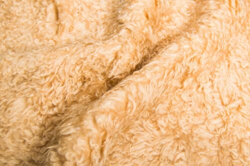 Budget faux fur Beige Low Price Teddy Faux fur fabric by the metre – YF 305 Lt.Brandy