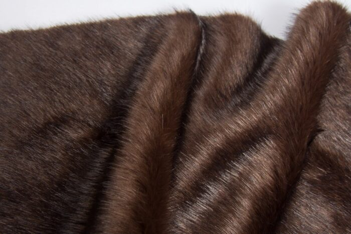 Faux fur by the metre Luxury quality brown mink imitation fur fabric – 1535 Brown Dk. Brown