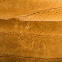 Faux fur by the metre Horizontal Striped Gold Rabbit Faux fur fabric by the metre – 2R335 Autumn Gold