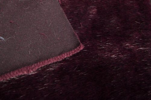 Faux fur by the metre Burgundy Red Mink Faux Fur Fabric By The Metre – 7573 Burgundy Black