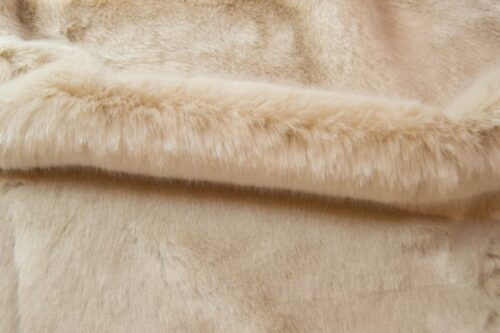Faux fur by the metre Beige Imitation Mink/Rabbit Faux Fur Fabric By The Metre – 6003 Beige