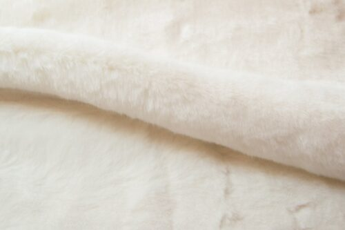 Faux fur by the metre Off-White Imitation Mink/Rabbit Faux Fur Fabric By The Metre – 6003 R.White