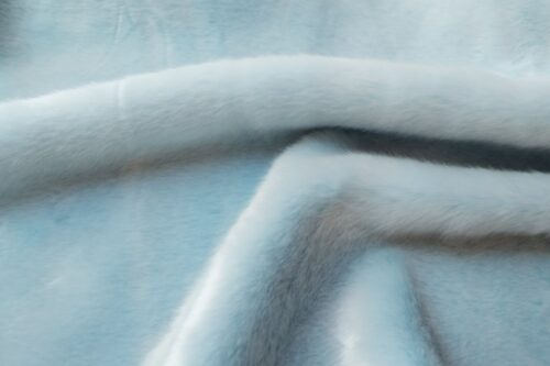 Faux fur by the metre Light Blue Imitation Rabbit/Mink Faux Fur Fabric By The Metre – 6005 Light Blue