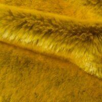 Faux fur by the metre Flash Yellow Imitation Rabbit Faux Fur Fabric By The Metre – 6006 Flash Yellow