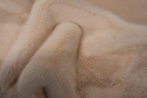Faux fur by the metre Pale pink Mink Faux Fur Fabric By The Metre – 6020 Pink