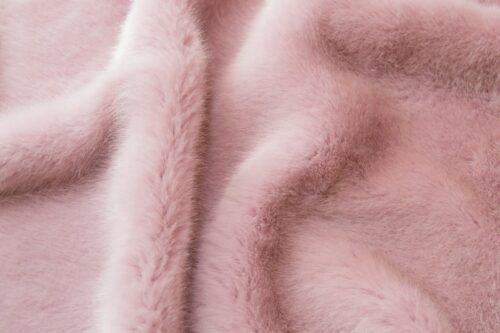 Faux fur by the metre Shorthaired Rose Faux Fur Fabric By The Metre – 6026 Lilac