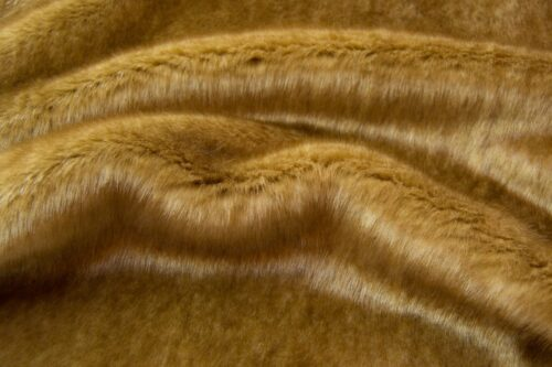 Faux fur by the metre Shorthaired Caramel Brown Faux Fur Fabric By The Metre – 6026 Caramel