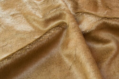 Faux fur by the metre Shorthaired Pale Brown Faux Fur Fabric By The Metre – 6029 Vicuna
