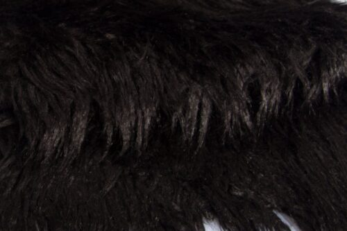 Faux fur by the metre Black mongolian lamb faux Fur Fabric by the meter – 6033 Black