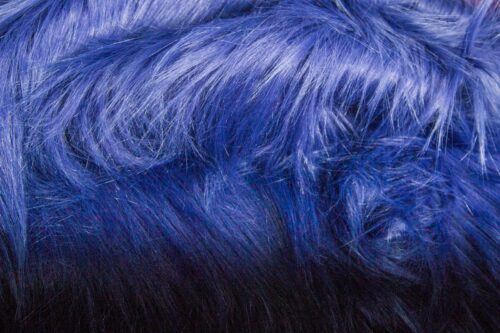 Faux fur by the metre Purple faux fur fabric by the metre, long haired in a yeti style – 1568 Purple