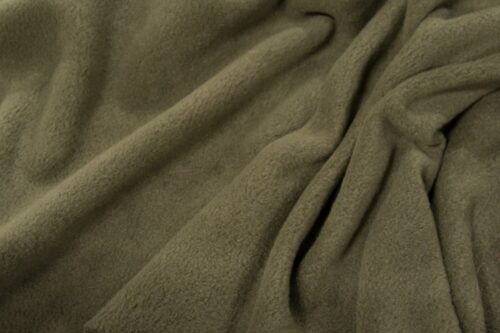 Fleece fabric Khaki green Lambskin Fleece by the metre, Anti-Pilling – Lovat