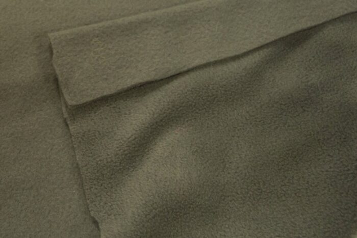 Fleece fabric Olive green Lambskin Fleece by the metre, Anti-Pilling – New Olive