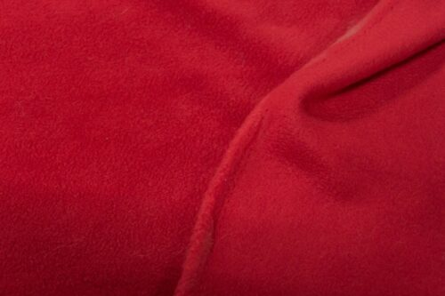 Fleece fabric Red Lambskin Fleece by the metre, Anti-Pilling – Red