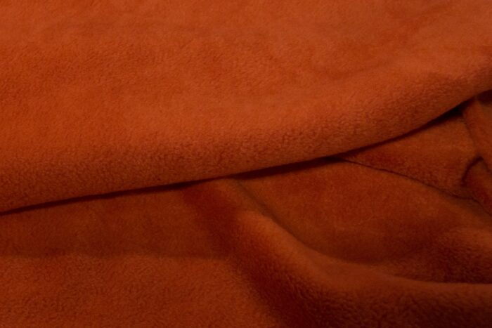 Fleece fabric Rust Lambskin Fleece by the metre, Anti-Pilling – Rust