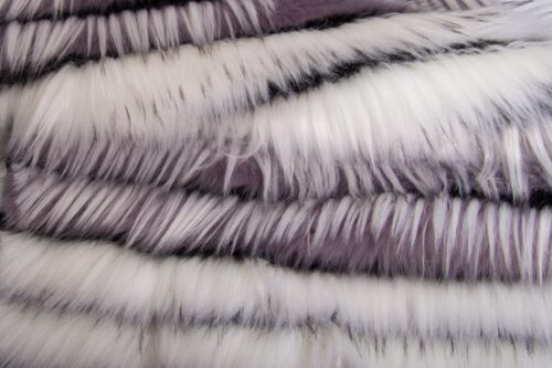 Faux fur by the metre Eyelashed Lilac/White Faux Fur Fabric By The Metre – 1613 Lilac/White