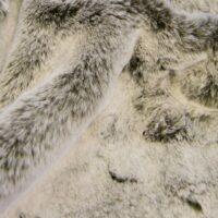 Faux fur by the metre Brown/White Rabbit Luxurious Faux Fur Fabric By The Metre – 1633 Lt.Brown/White