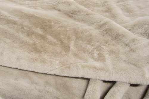 Faux fur by the metre Short pile faux fur fabric by the meter, limited edition, Rabbit, Beige