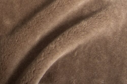 Faux fur by the metre Brown imitation sheep teddy faux fur fabric by the metre – 1588 Stone