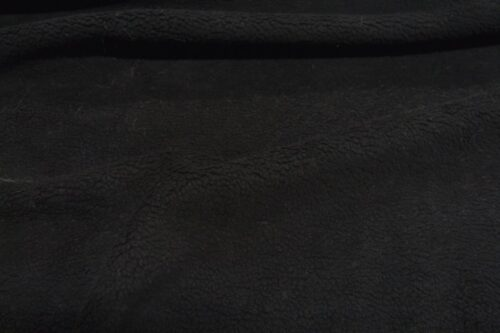 Faux fur by the metre Short pile faux fur fabric by the meter, limited edition, Sheep, Black, faux leather back