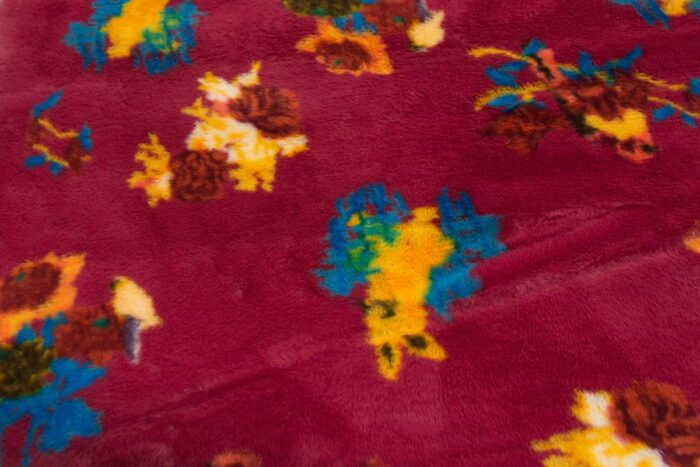 On Sale Now Medium pile faux fur fabric by the meter, limited edition, Rabbit, Pink/Red