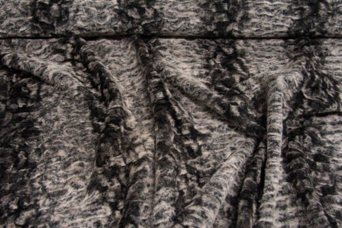 Faux fur by the metre Short pile faux fur fabric by the meter, limited edition, Astrakan, Grey / Silver, faux leather back