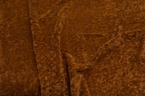 Faux fur by the metre Short pile faux fur fabric by the meter, limited edition, Lamb, Brown/Orange