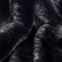 Faux fur by the metre Black imitation rabbit faux fur fabric by the metre – 2R339 Black