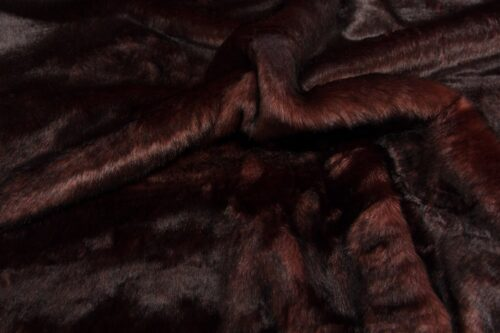On Sale Now Medium pile faux fur fabric by the meter, limited edition, Fox, Brown/Red