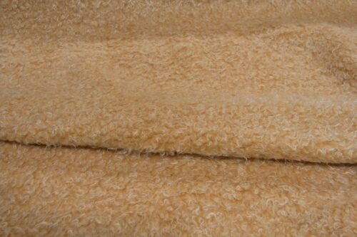 Faux fur by the metre Long pile faux fur fabric by the meter, limited edition, Lamb/Sheep/Yeti, Orange