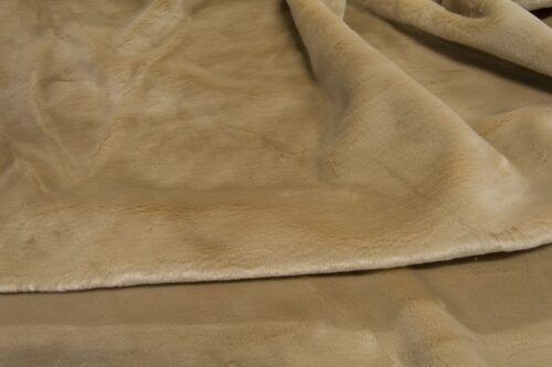 Faux fur by the metre Short pile faux fur fabric by the meter, limited edition, Rabbit, Beige/Brown