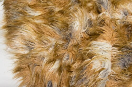 Faux fur by the metre Long pile faux fur fabric by the meter, limited edition, Lamb/Sheep, Brown