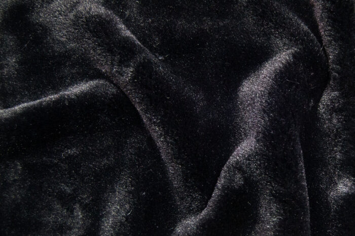Faux fur by the metre Luxurious imitation rabbit faux fur fabric per meter, black, 100% recycled – 2R400 Black
