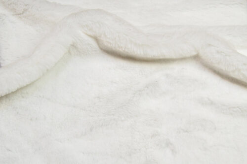 Faux fur by the metre Luxurious imitation rabbit faux fur fabric per meter, white, 100% recycled – 2R400 S.White