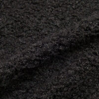 Faux fur by the metre Luxurious teddy faux fur fabric per meter, black, 100% recycled – 2R402 Black
