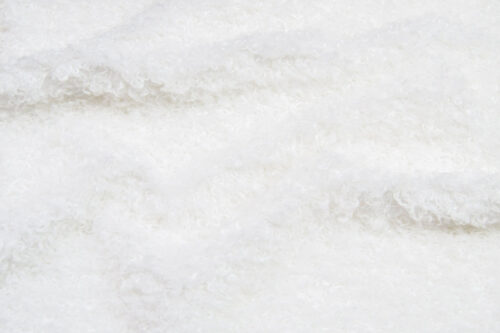 Faux fur by the metre Luxurious curly faux fur fabric per meter, white, 100% recycled – 2R403 White