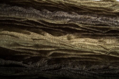 Faux fur by the metre Stonegrey Textured Mink Faux Fur Fabric By The Metre – 7588 Stone/Brown