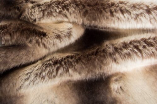 Faux fur by the metre Medium pile  faux fur fabric by the meter, Chinchilla, Brown – 2105 Brown Gold