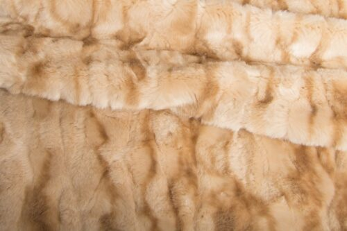 Faux fur by the metre Short pile  faux fur fabric by the meter, Crocodile, Beige/Brown – 3056 Beige/Brown