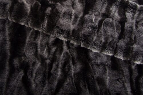 Faux fur by the metre Short pile  faux fur fabric by the meter, Crocodile, Silver/Black – 3056 Black/Silver