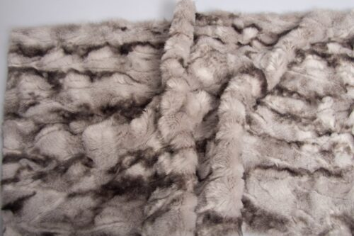 Faux fur by the metre Short pile  faux fur fabric by the meter, Crocodile, Grey/Black – 3056 Grey/Black