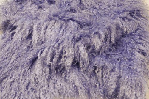 Faux fur by the metre Long pile, Curly faux fur fabric by the meter, Mongolian Lamb, Lavender Blue – 3129 Lavender